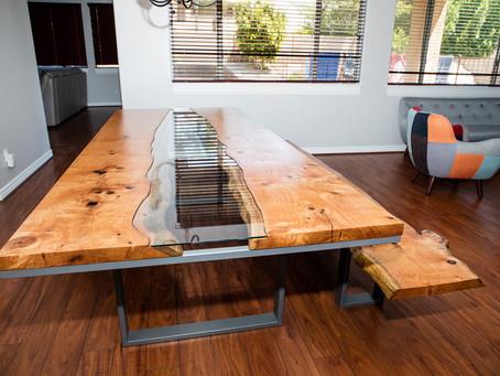 Silky Oak River Table + Bench Build