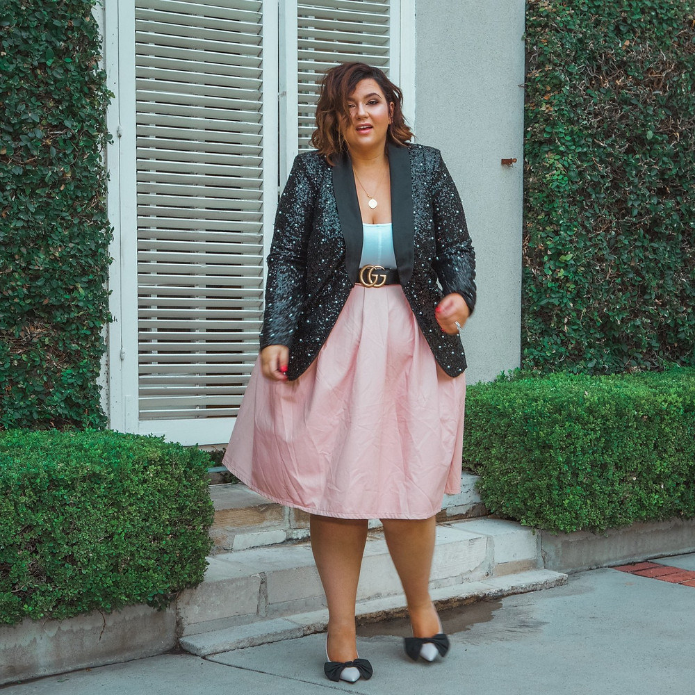 plus size party outfit eloquii gucci boohoo affordable