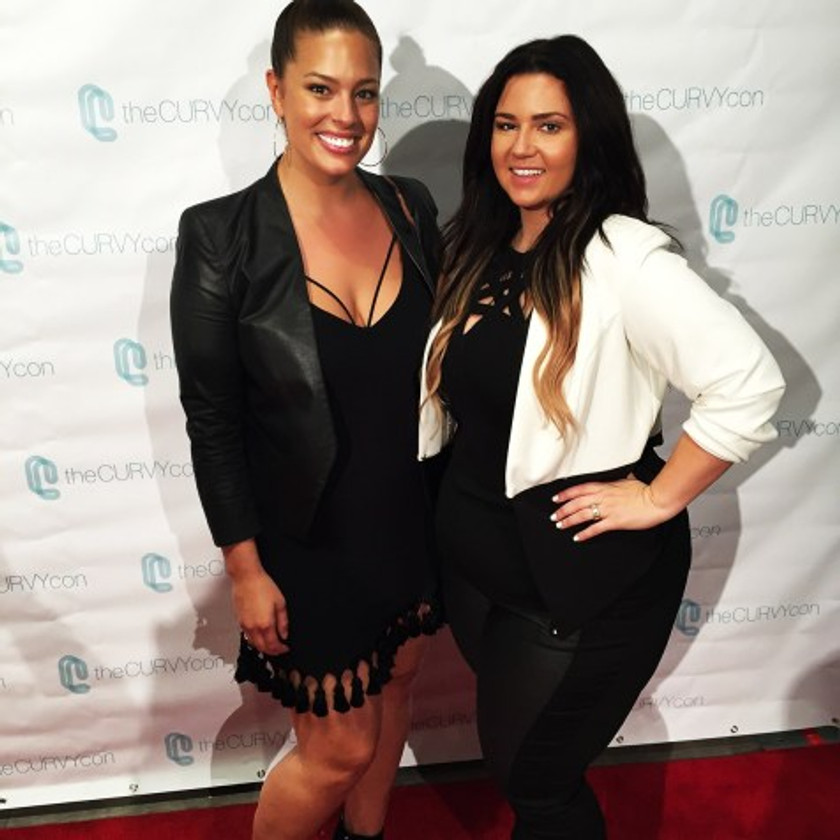 Oh, no big deal, just posing with Ashley Graham