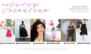 plus size valentines ootd blogger collab sometimes glam jessica kane crystal coons jolene boardroom blonde jeniese cynthia mary demetra