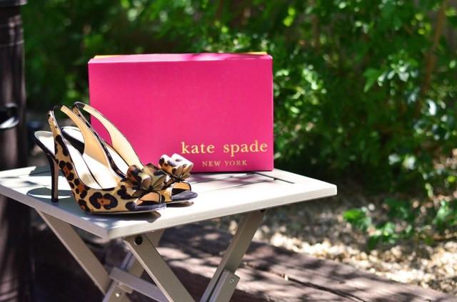 kate spade charm heels in leopard