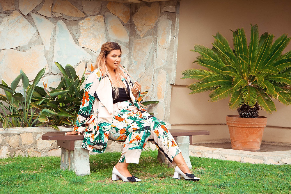 tropical suit, coord set, matching set, plus size suit, plus size tropical outfit, travel outfit, ottd