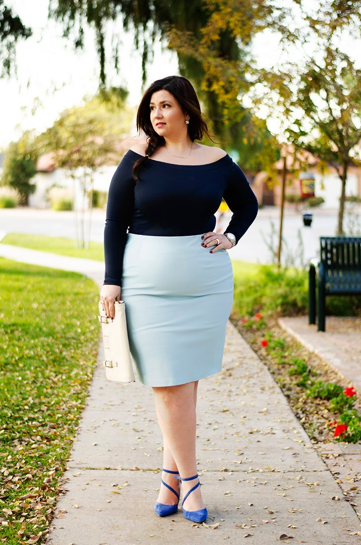 crystal coons outfit of the day leather skirt blue off the shoulder bardot plus size leather skirt elsa frozen disney inspired