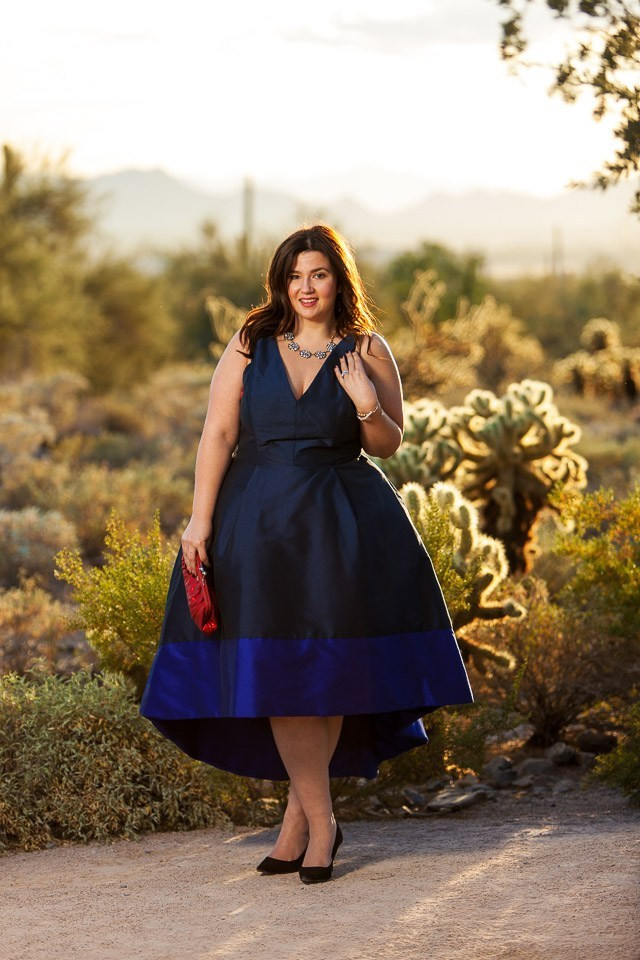 plus size rent the runway monique l'huillier ootd crystal coons