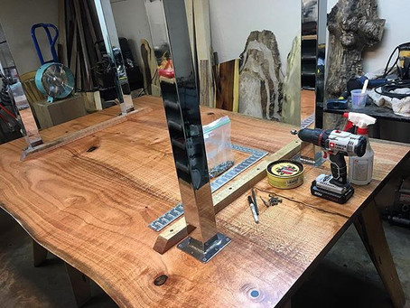 Silky Oak Live Edge Dining Table