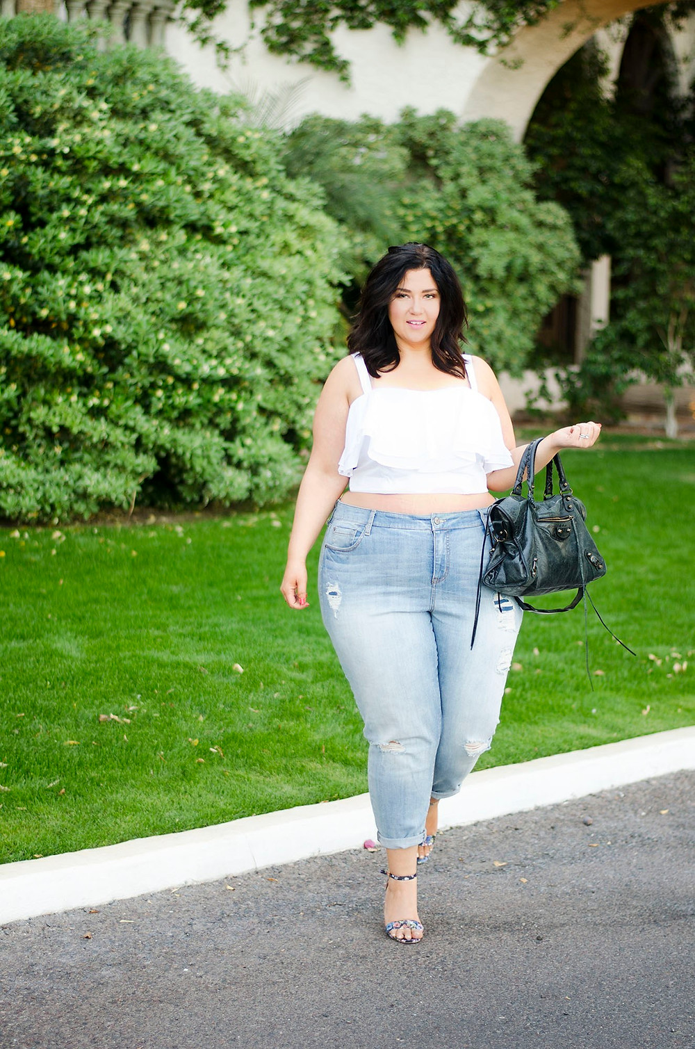 plus size ruffle shirt spring 2016 trends fashion trends crystal coons sometimes glam phoenix az blogger