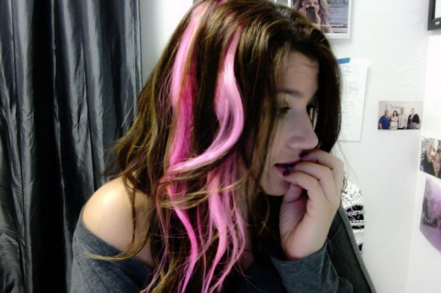 diy pink pastel extensions