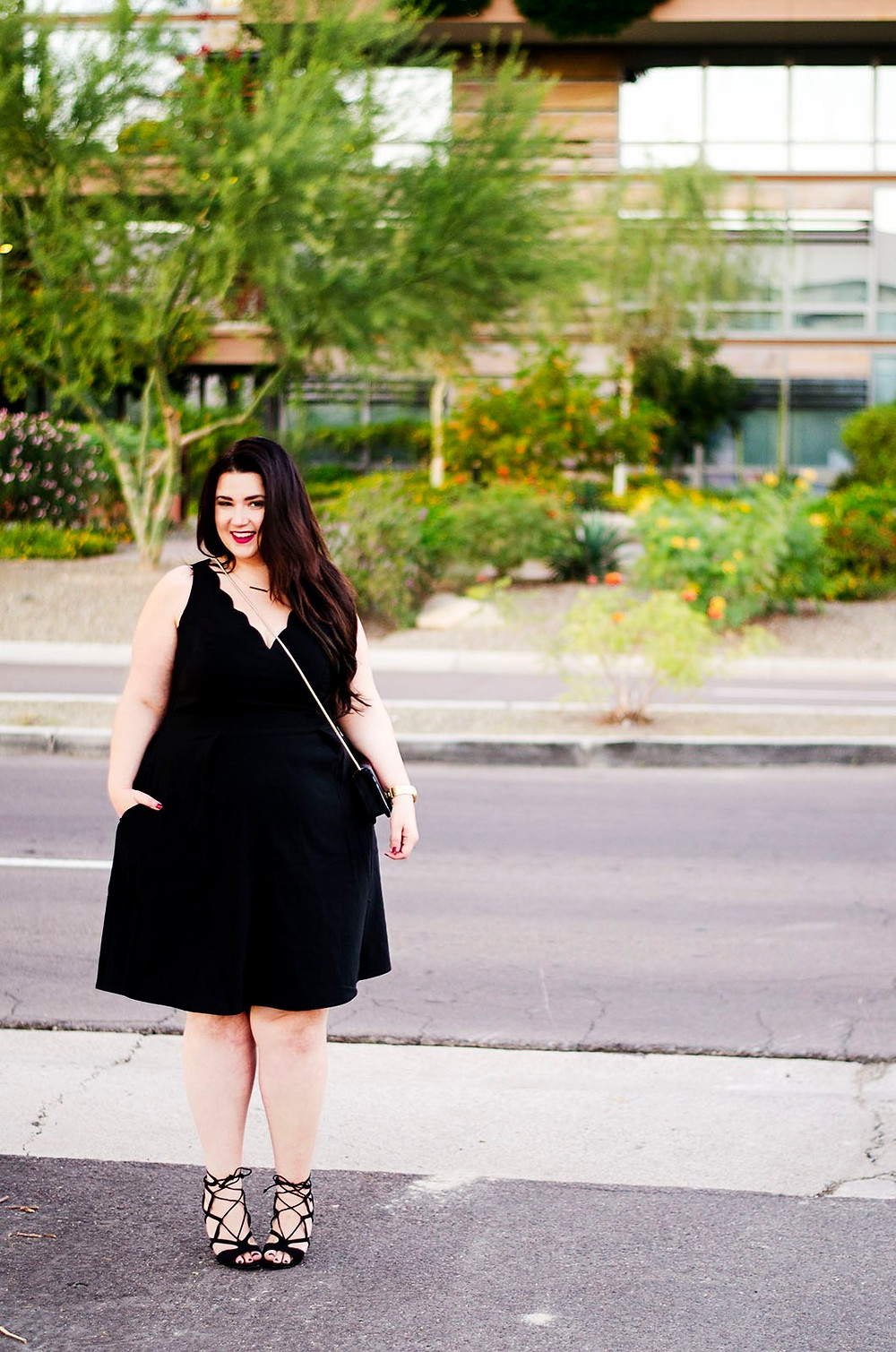 plus size black dress little black dress city chic ootd crystal coons sometimes glam