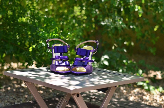 kate spade IVY heels in purple