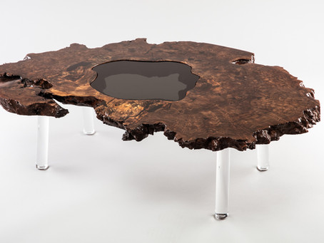 Giant Claro Walnut End Grain Root Ball Coffee Table