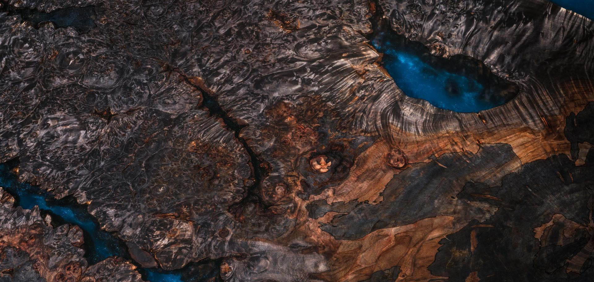 Ebonized Spalted Maple Burl woodgrain