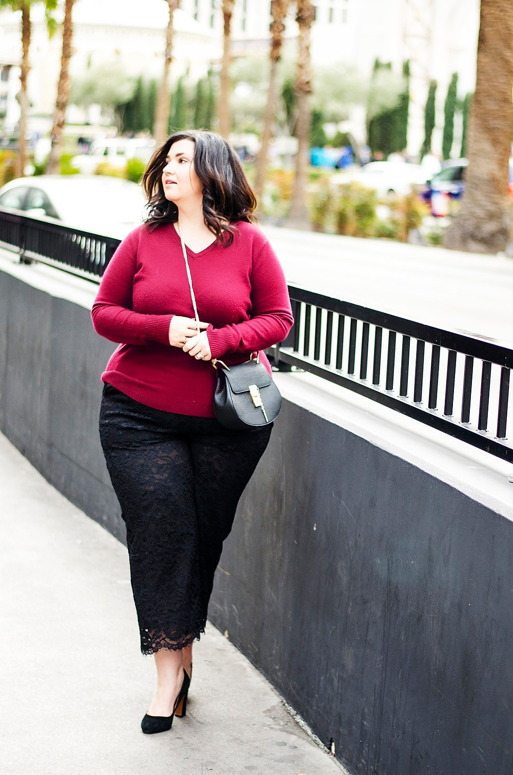 plus size lace pants eloquii crystal coons sometimes glam ootd las vegas