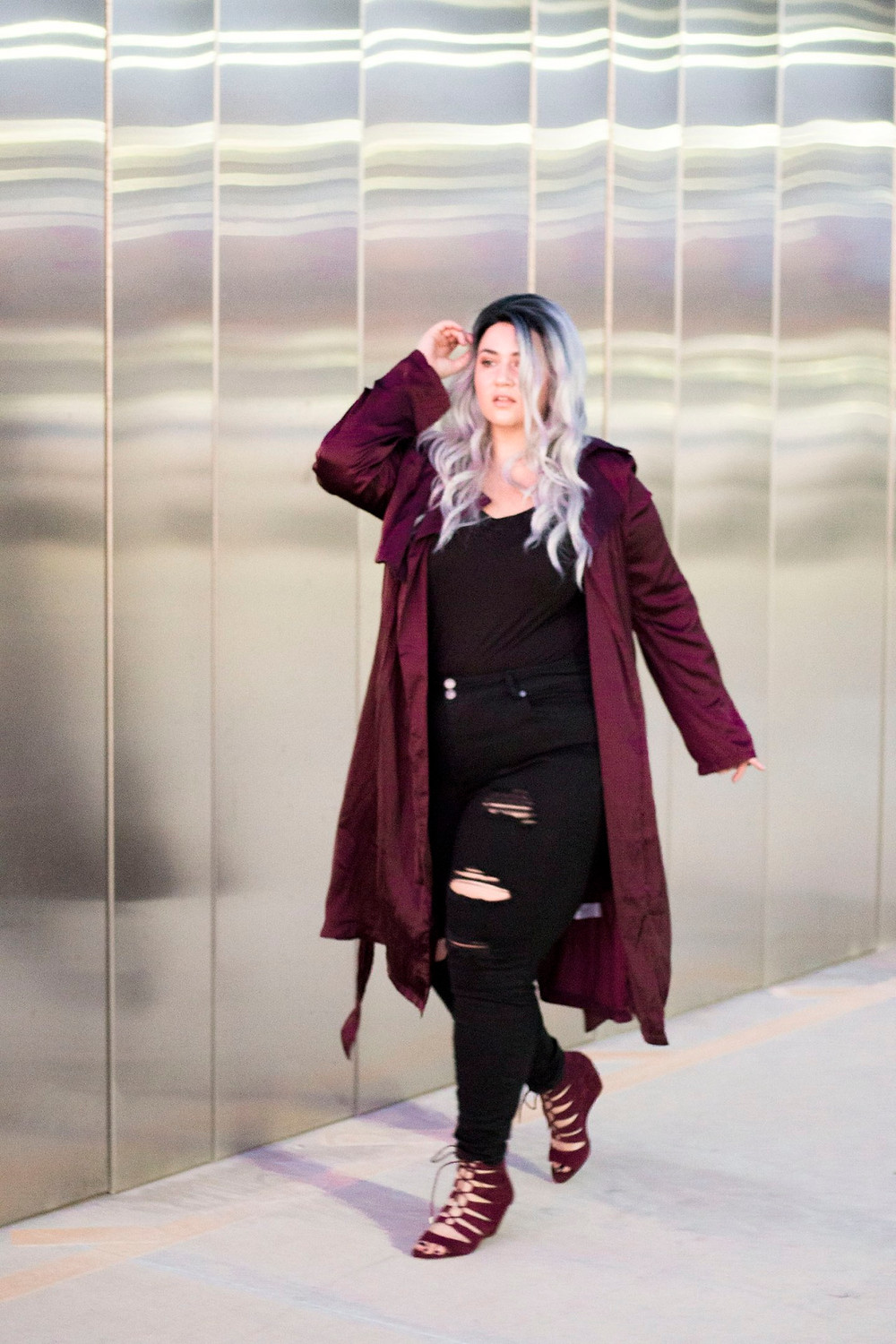plus size ripped jeans denim destroyed crystal coons ootd sometimes glam lookbook fashion style phoenix arizona