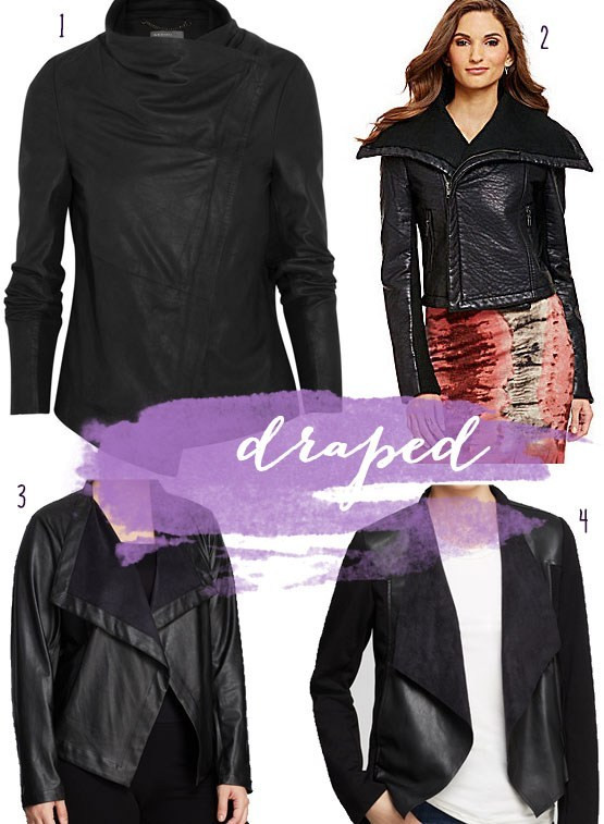 draped leather jacket waterfall leather jacket rick owens inspired
