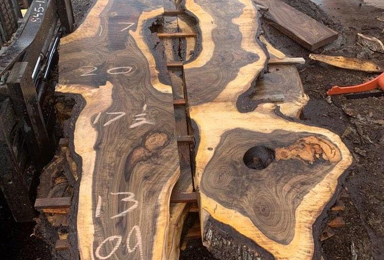 Walnut River Dining Table Slab Set 3