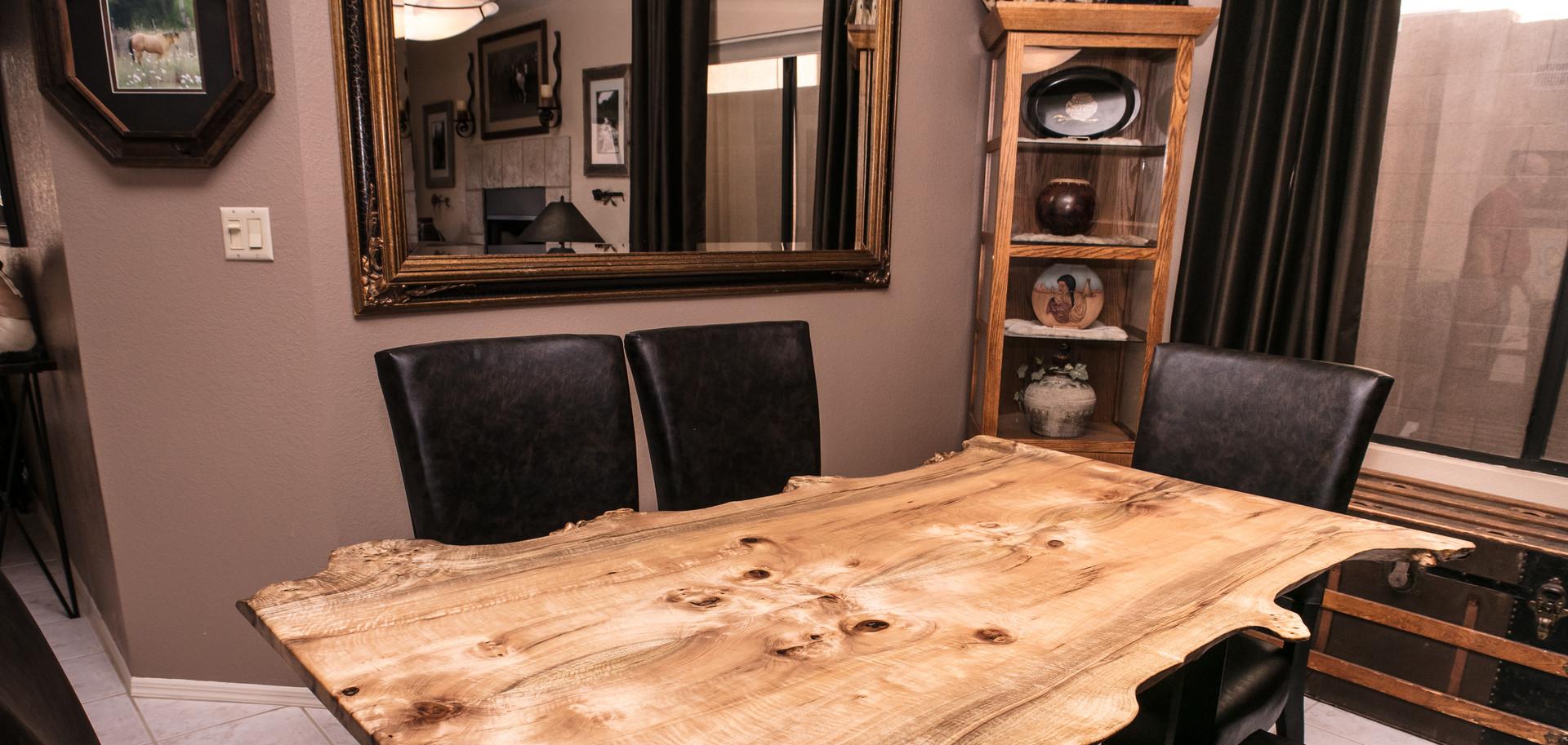 Myrtle Burl Live Edge Dining Table