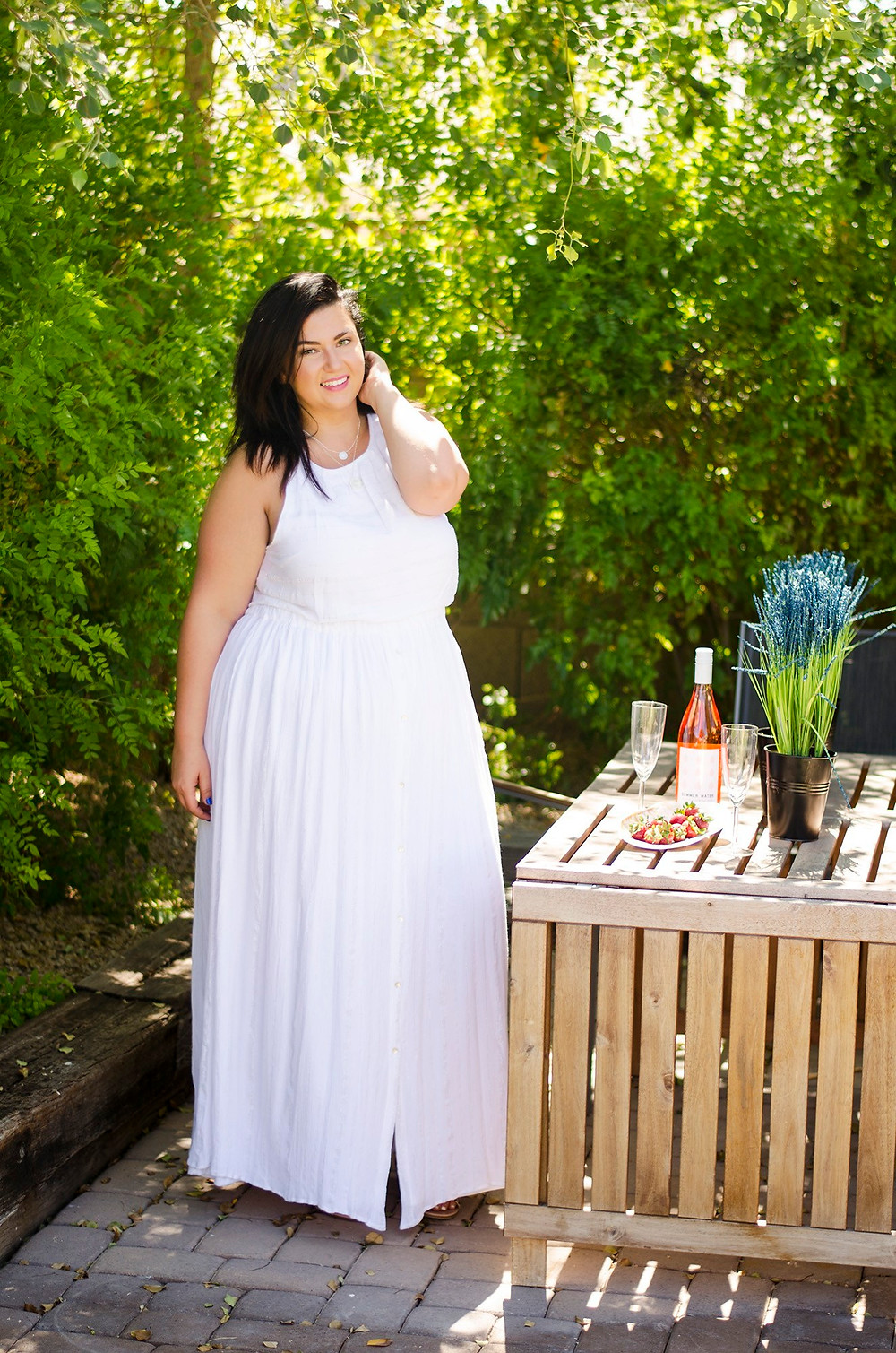 dress-plus size white dress home cocktail hour date night at home kohls plus size
