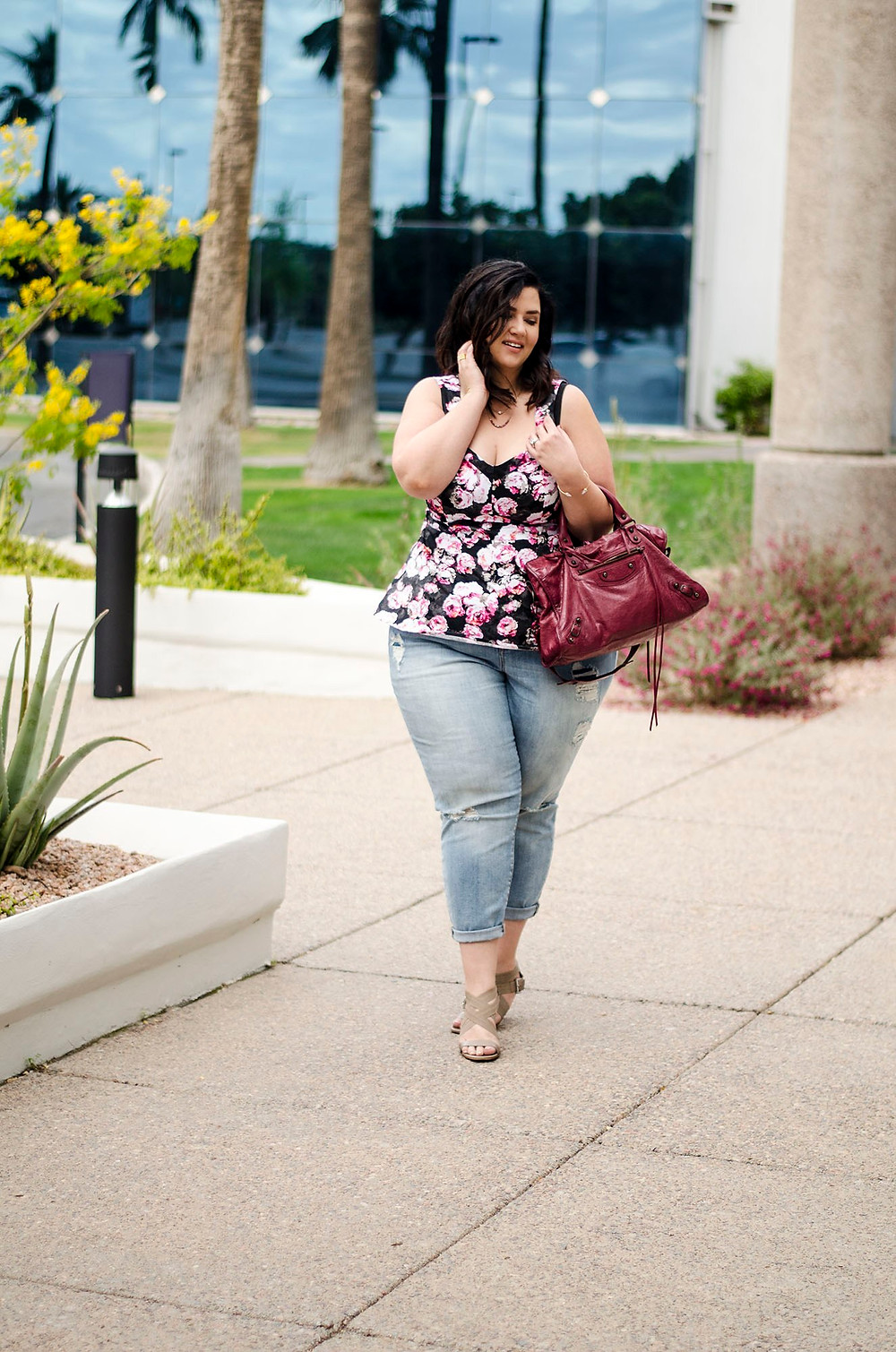 plus size jeans ootd torrid crystal coons sometimes glam destroyed denim weekend jeans