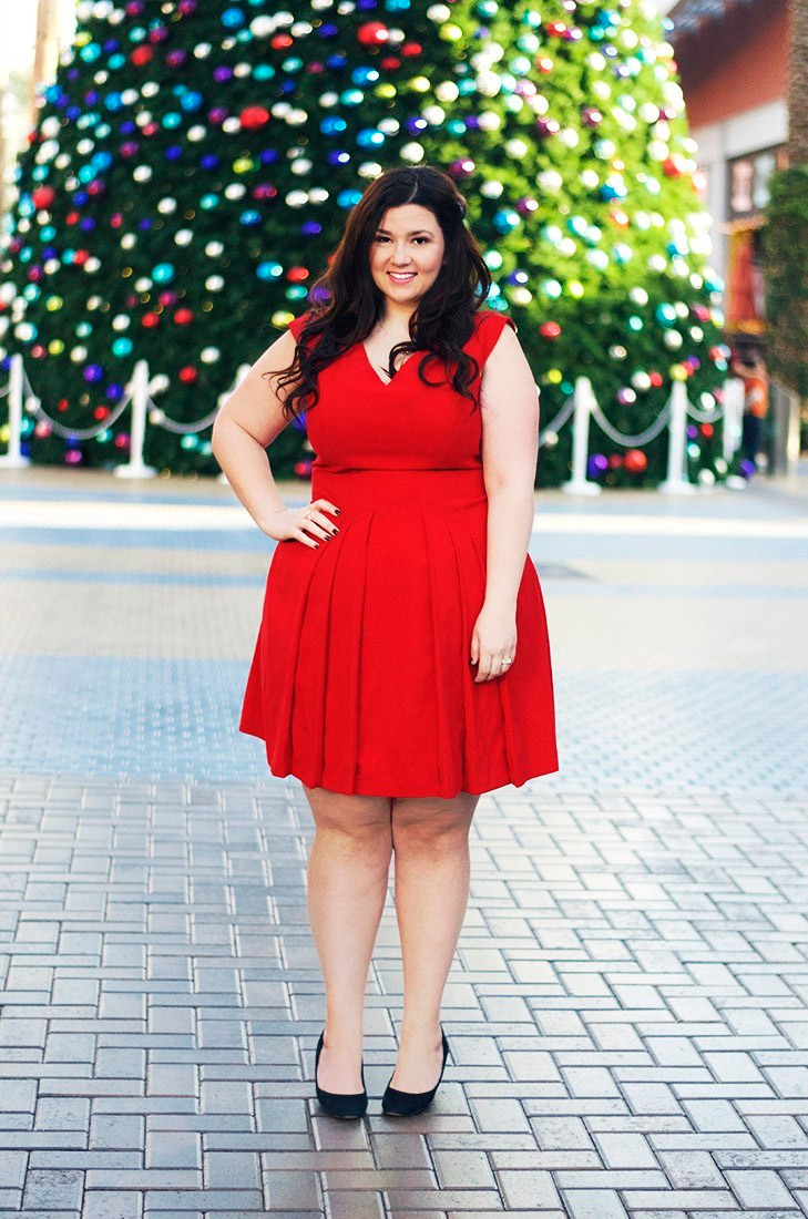 crystal coons red christmas dress