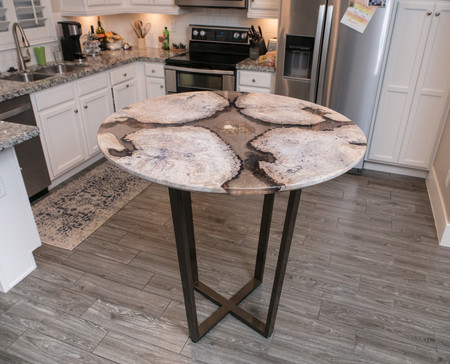 Bistro Wood and Resin River Kitchen Table