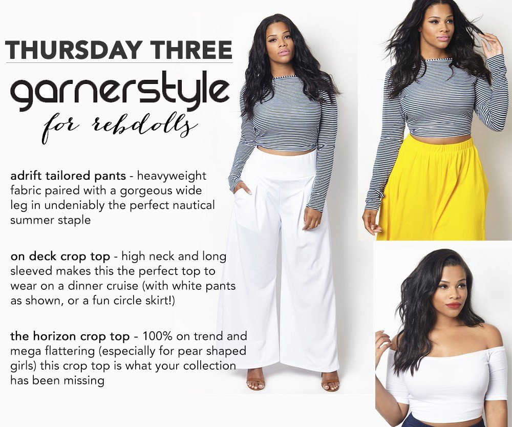 GarnerStyle Chastity Garner RebDolls Plus Size nautical preppy