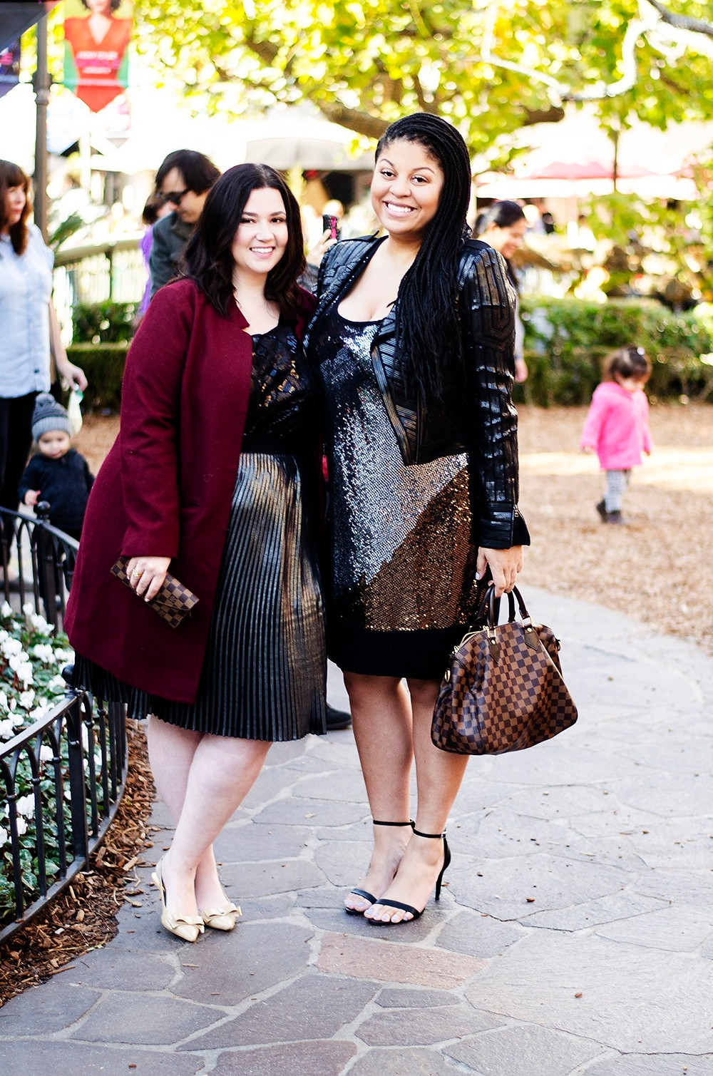 modamix plus size outfit sequin dressy classy friends gavyn pickens crystal coons sometimes glam