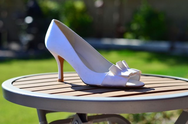 DIY Strass Stuart Weitzman wedding shoes strass