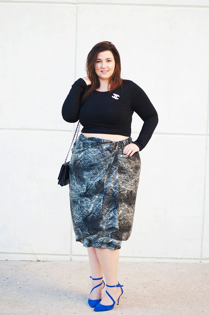 crop top corey skirt plus size gwynnie bee crystal coons fall 2014 multi way