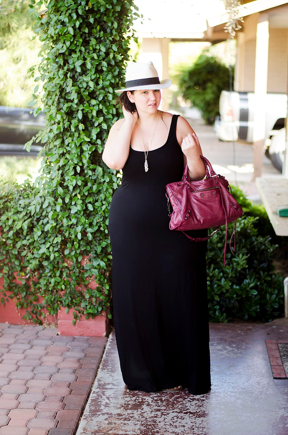 plus size maxi dress casual ootd crystal coons sometimes glam