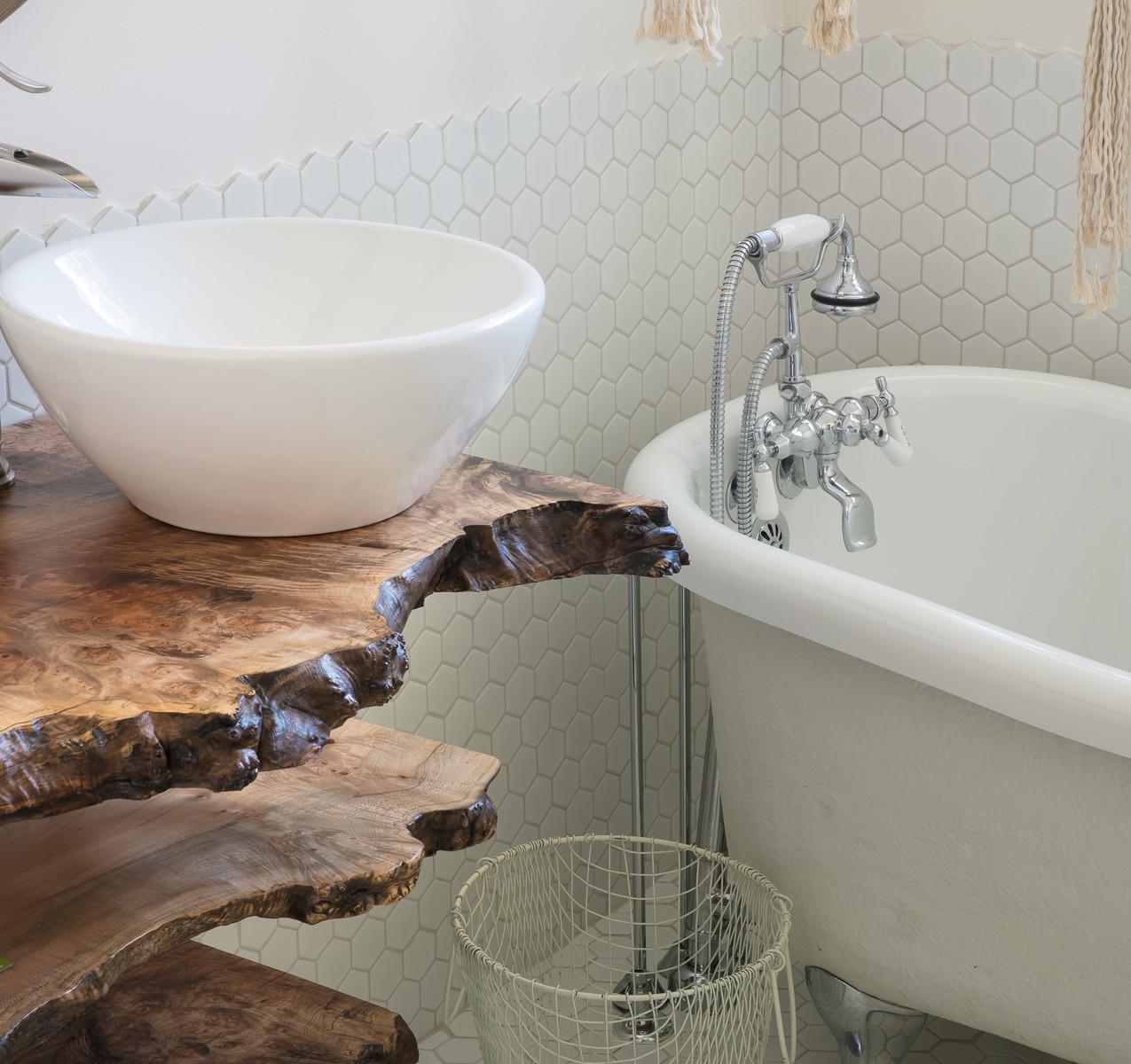 Tiered Maple Live Edge float mount vanity