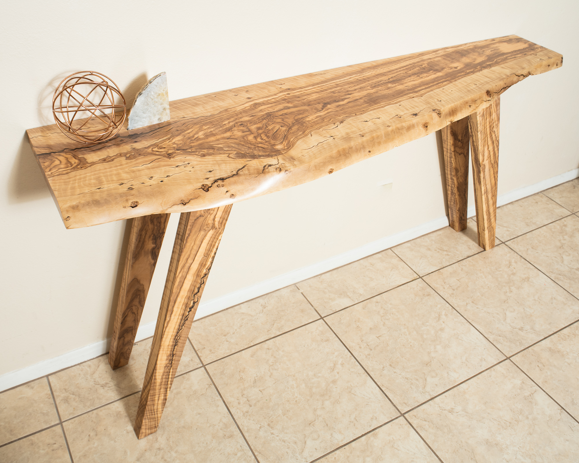 Olive Wood Live Edge Console Table | LumberLust Designs, Upscale Live Edge  Furniture Made In Arizona