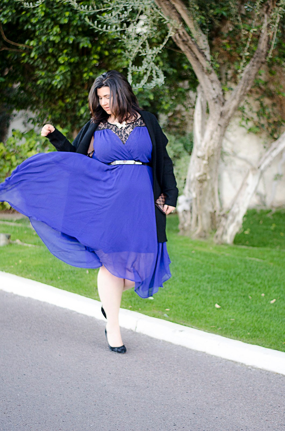plus size romantic dress ootd crystal coons sometimes glam city chic