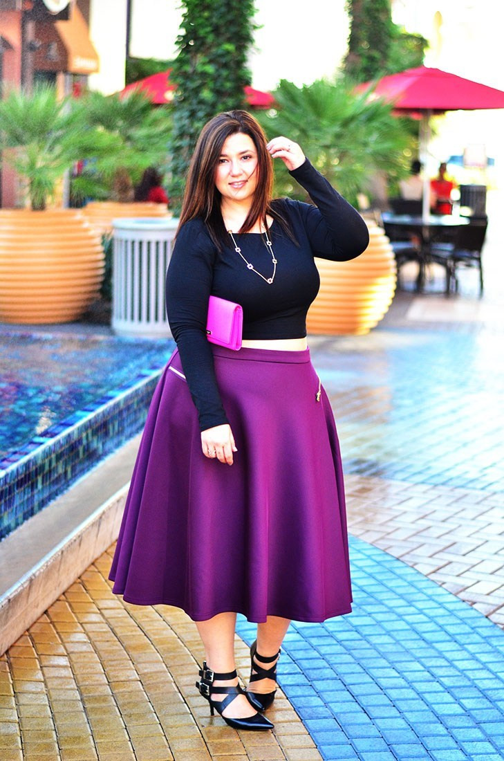 crystal coons plus size midi skirt fall 2014 model what to wear for fall 2014 outfit