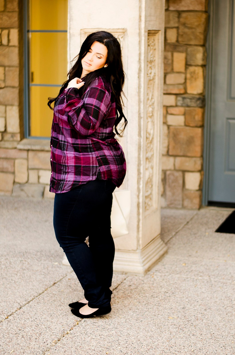 plus size plaid shirt phoenix arizona blogger crystal coons fall fashion