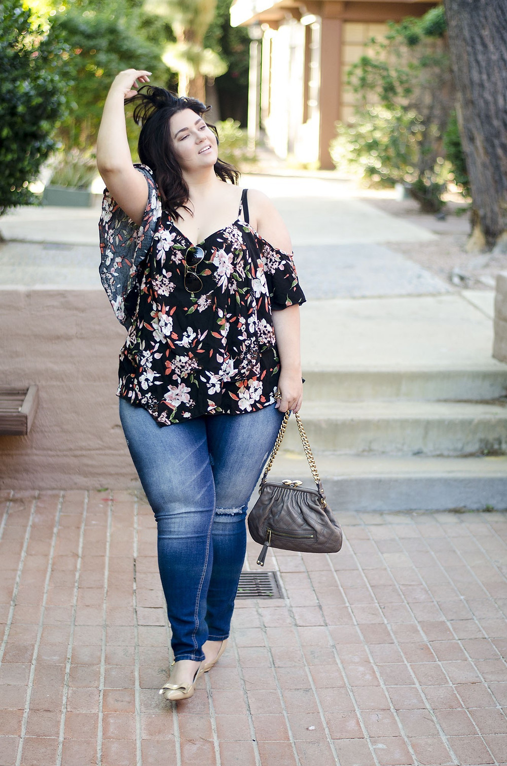 plus size jeans ftf fashion to figure casual cute boho dressy date night  ootd crystal coons sometimes glam