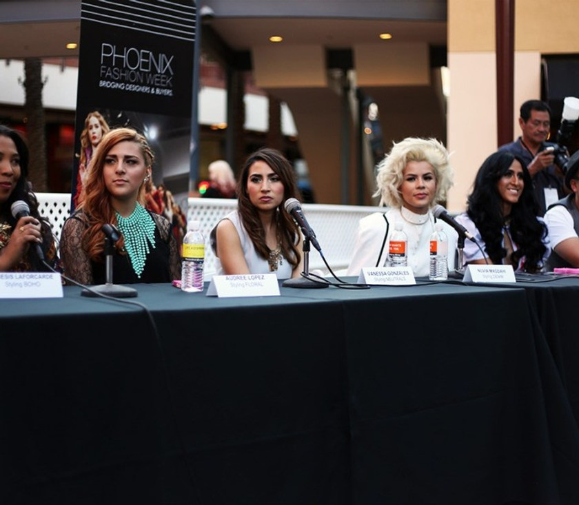 The stylists panel before the show