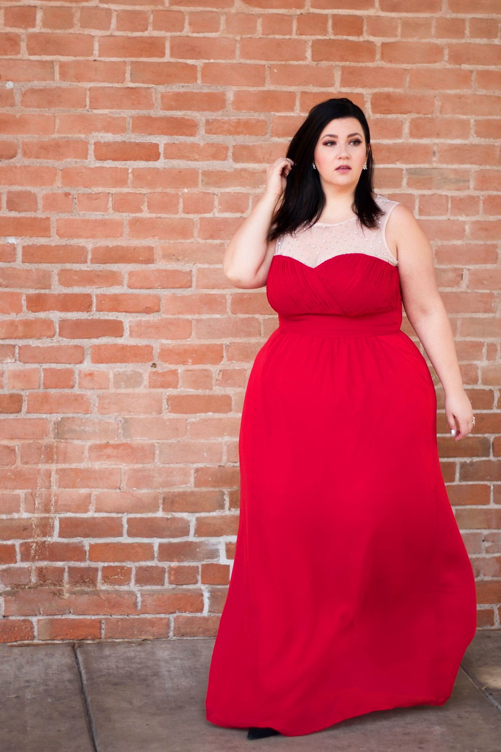 plus size red dress christmas formal maxi gown city chic sometimes glam crystal coons phoenix az blogger