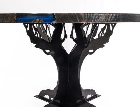 "Steel Tree Base for 58"" Diameter River Table"