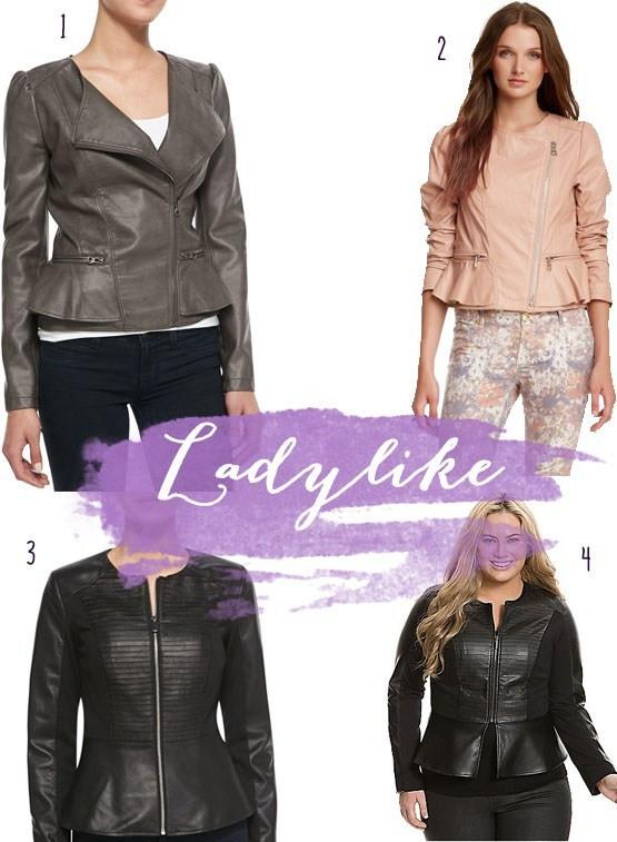 ladylike leather jackets fall 2014 plus size fashion plus size leather jackets