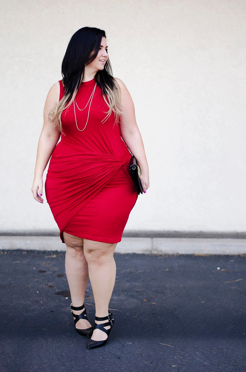 red bodycon plus size crystal coons ootd how to wear a bodycon red and black