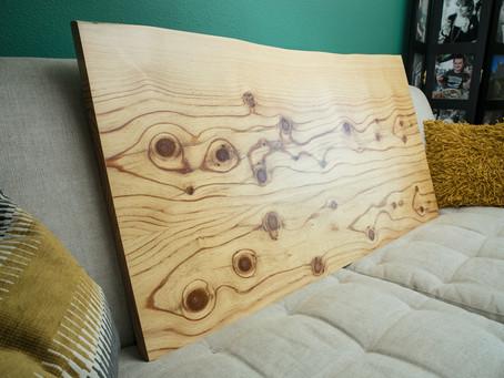 Custom Pine Countertop for Shop Phx Flea