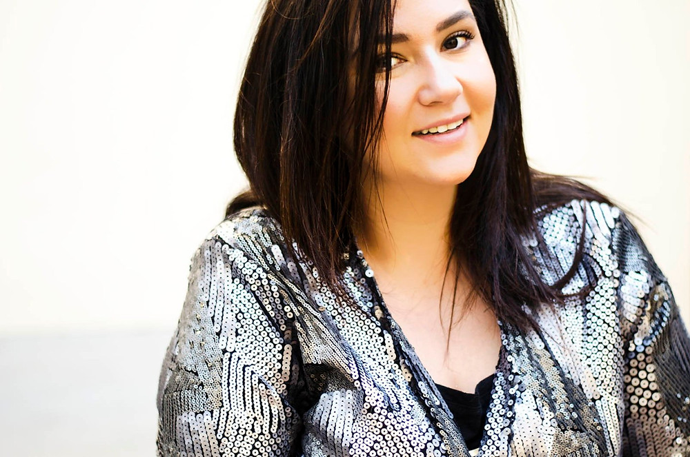 plus size sequin jacket casual christmas ootd crystal coons sometimes glam lane bryant phoenix az blogger