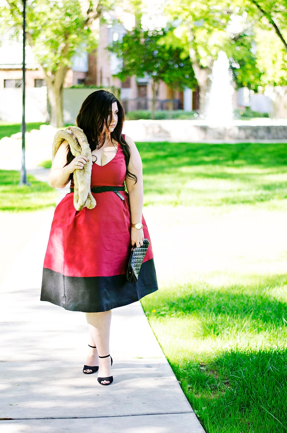 plus size christmas thanksgiving holiday dress ootd red dress formal fancy dinner