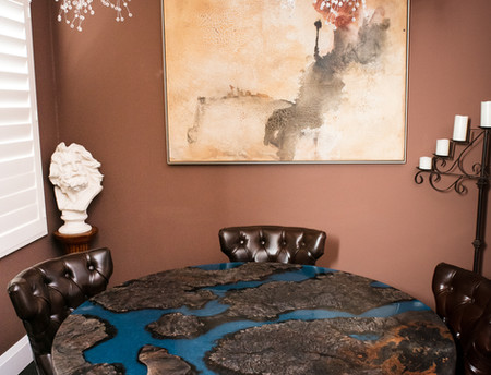Earth Art Burl/Resin Modern Dining Table