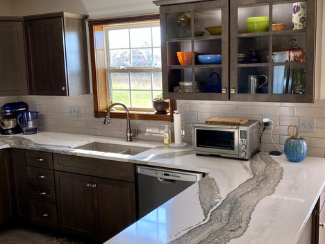 Stained Cabinetry with Cambria Countertop