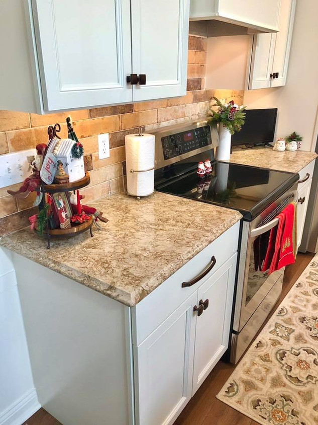 Painted Cabinetry with Cambria Countertop