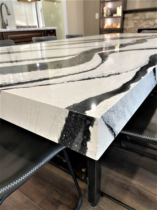 """Cambria Table with 3"""" Mitred Edge"""