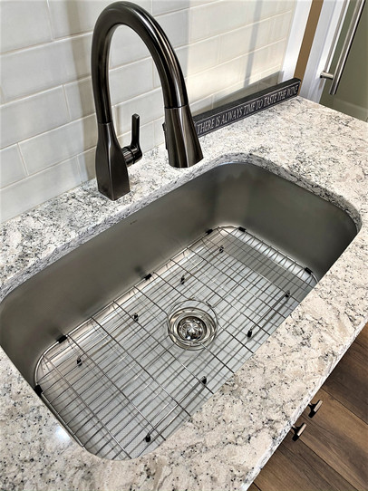 Faucet and Single Bowl Sink