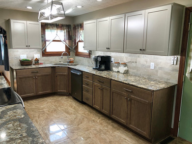 Two Toned Cabinetry with Cambria Countertops
