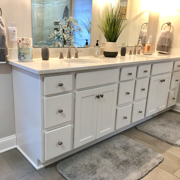 Painted Vanity Cabinetry
